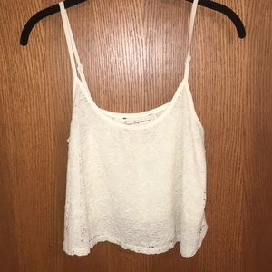 American Rag white lace crop top